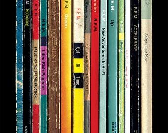 REM Albums As Penguin Books Poster Print | Literary Paperback Rock Music Art | Michael Stipe Peter Buck Home Decor