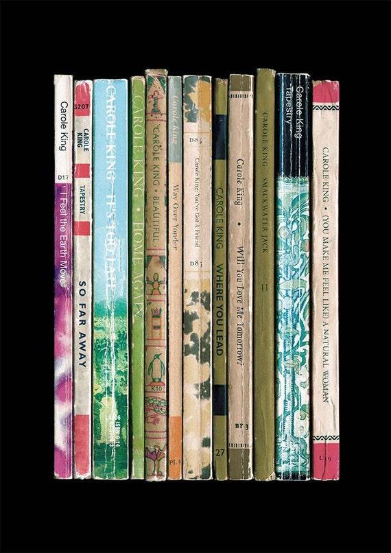 Carole King Tapestry Album Als Boeken Poster Print Muziek Etsy