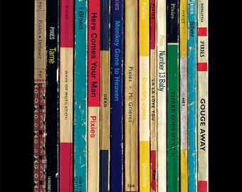Pixies 'Doolittle' Album As Penguin Books Poster Print Literary Print, Home Decor, Music Art