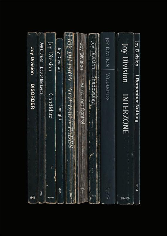 Joy Division Unknown Pleasures Album As Books Poster Etsy
