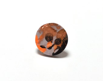 Handmade Medium Disk Resin Ring - One of a kind, Adjustable Back-Assorted Colours