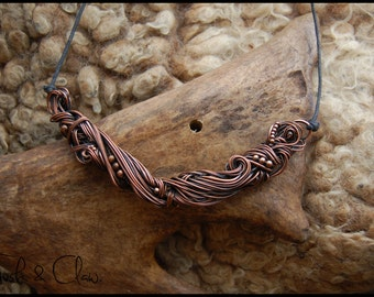 Twisted roots copper Necklace/Choker, Giger, Roots