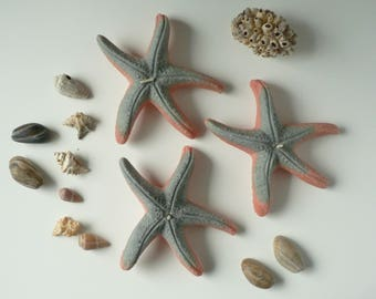 Starfish floating candles / Set of 3 scented original OOAK Ecofriendly candles / Beach home & summer decor / Housewaming unisex gift