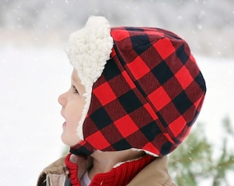 cc8f66eaafd Aviator Hat PDF Sewing Pattern  Winter Hat PDF Pattern