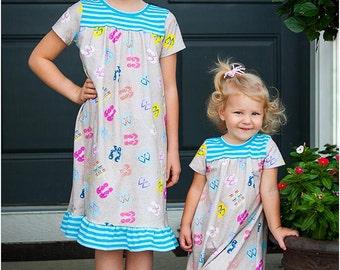 Dreamland Nightgown Sewing Pattern  Girls Nightgown Pattern 7c6e70766
