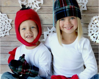 Snow Day Fleece Hat and Mittens  Winter Hat Pattern 49d235ceda9