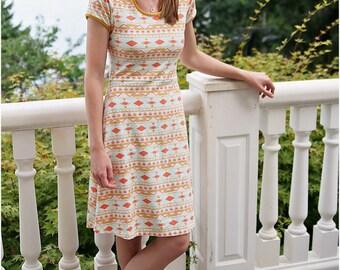 Southwest Dress and Top: Women's Knit Dress & Peplum PDF Sewing Pattern