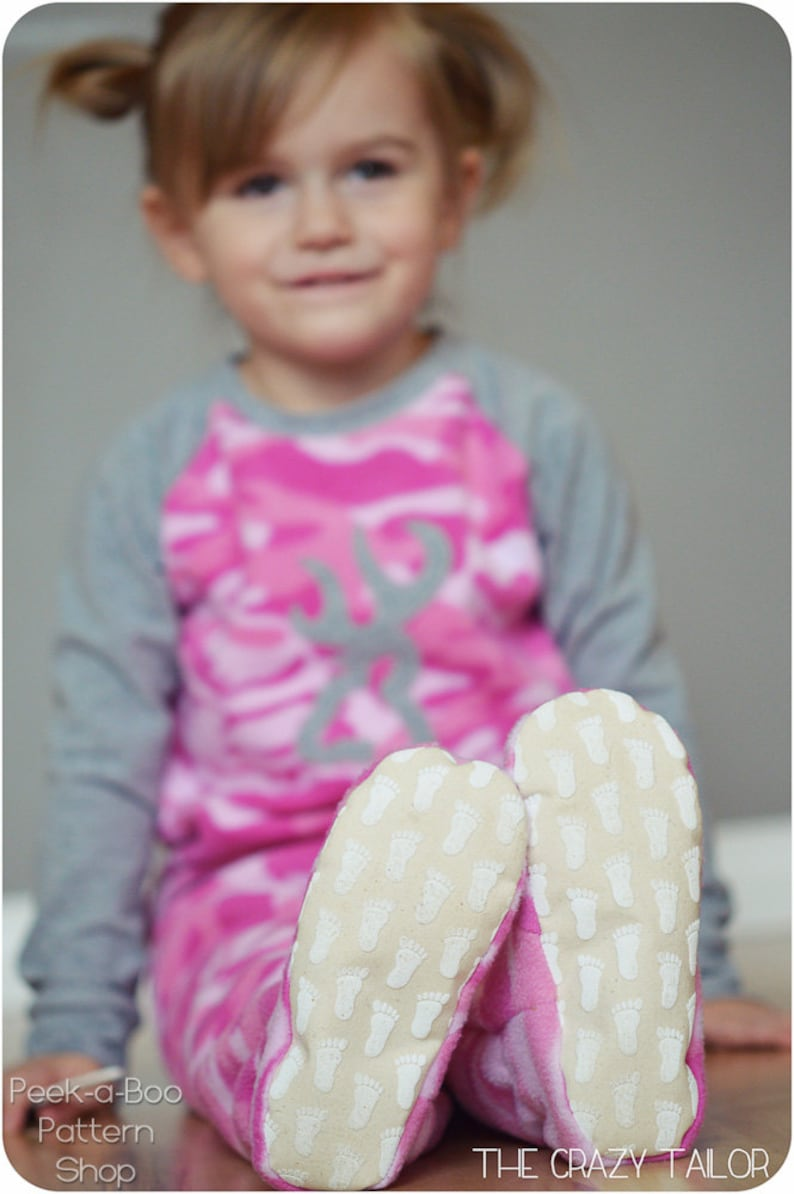 d6e7839b75ea Happy Feet Pajamas Pattern  2-piece footed pajamas footed
