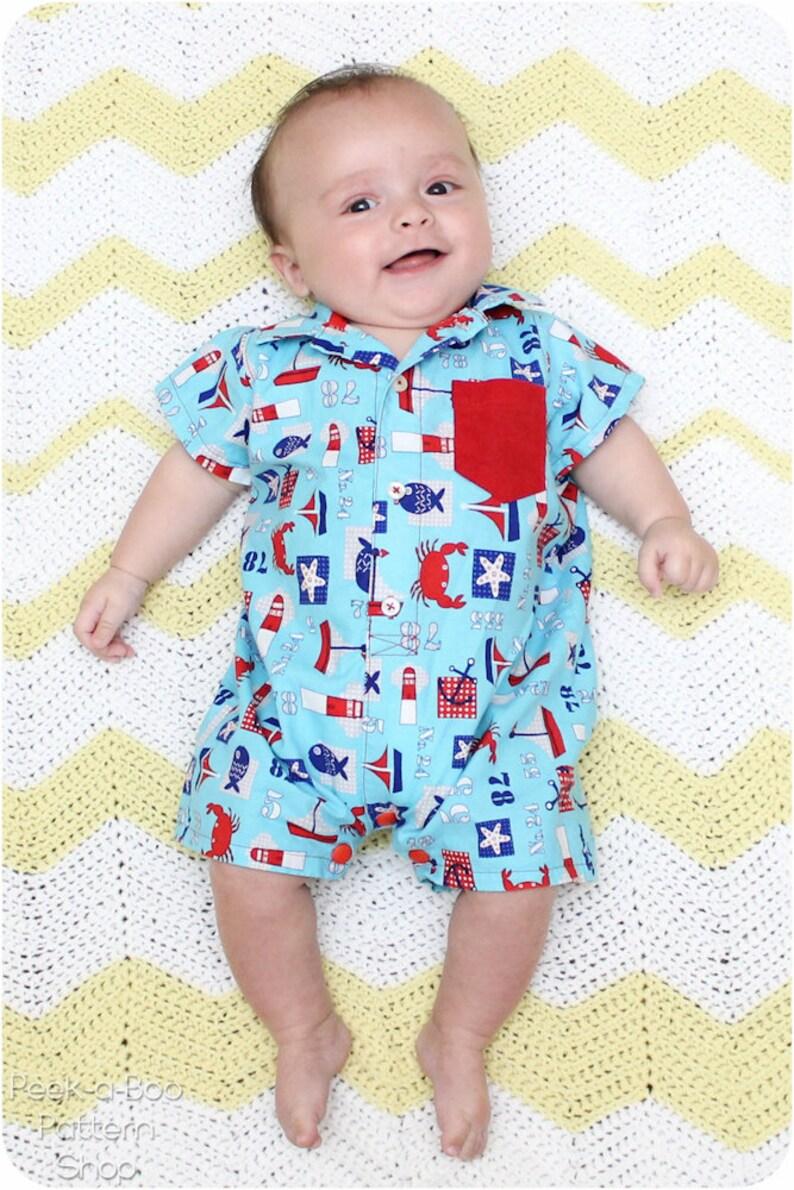 1e9479f0fd983 Pat-a-Cake Romper: Baby Romper Pattern, Toddler Romper Pattern