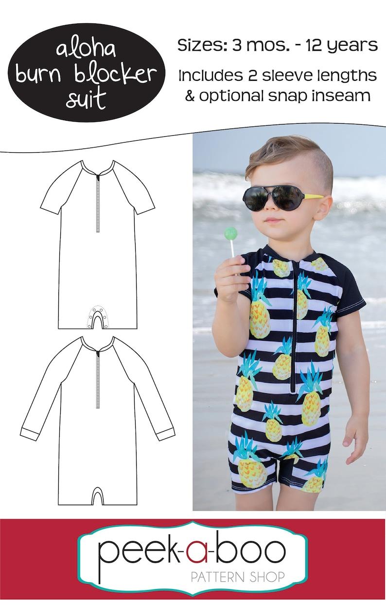 Aloha Burn Blocker Suit: Swim Suit Pattern Bathing Suit image 0