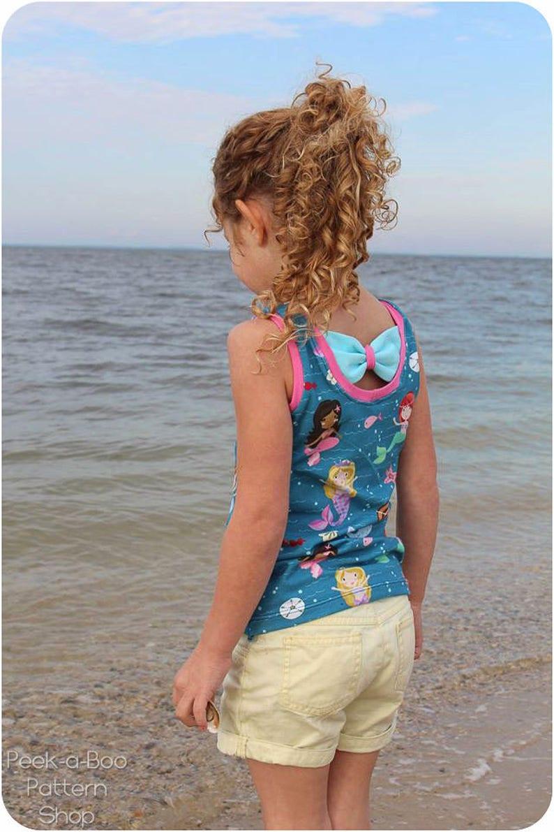 ff48a472c24db Sweet Caroline Dress Peplum and Tank Sewing Pattern Bow | Etsy