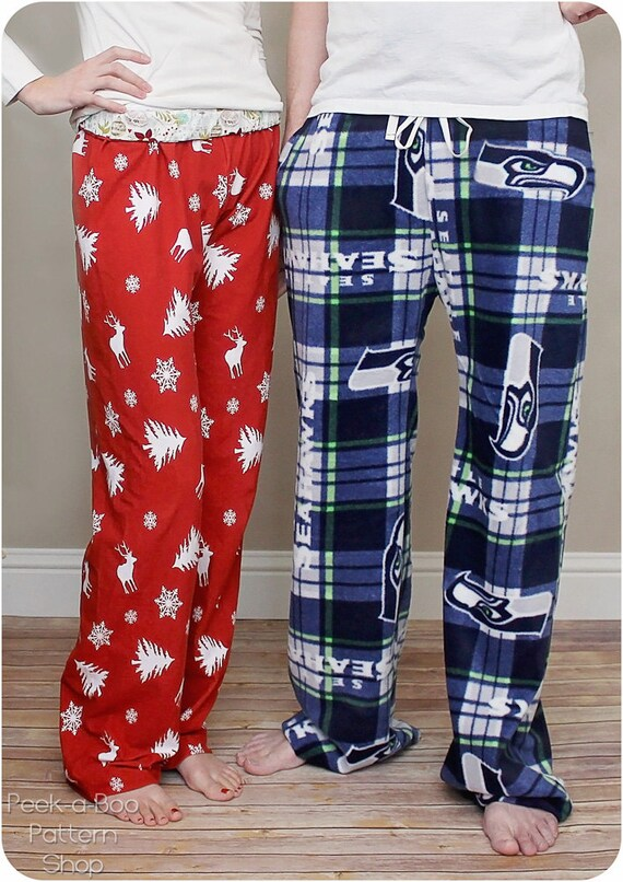 Hit The Hay Pajama Pants Adult Pajama Pants Sewing Pattern Etsy New Pajama Pants Pattern