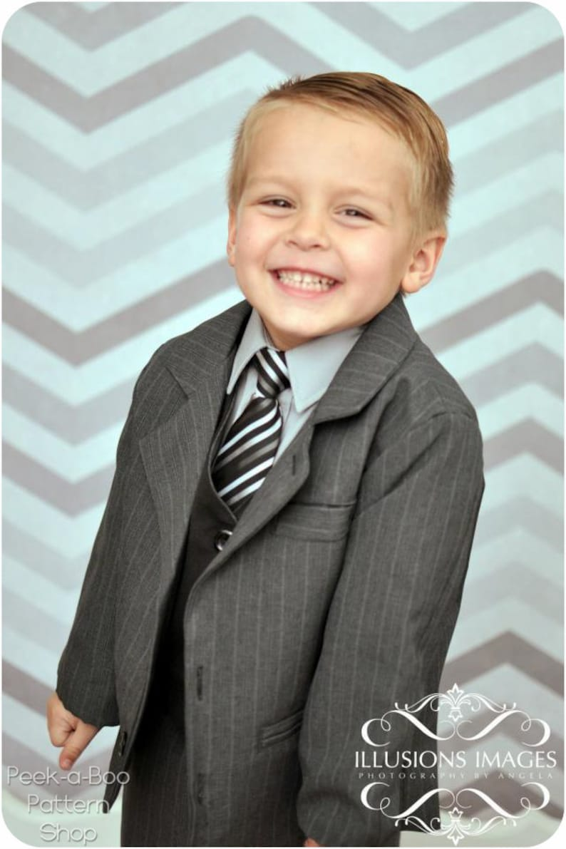 4828196cc Little Gentleman Suit Jacket: Boys Suit Jacket Pattern Boys | Etsy