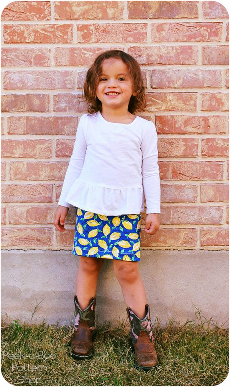 3d6d94b781 Pipsqueak Pencil Skirt: Girls Pencil Skirt Pattern Girls | Etsy