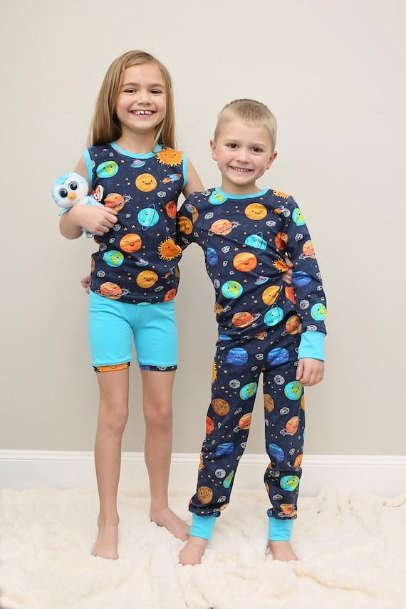 Alex and Anna Pajamas PDF Sewing Pattern: Pajamas PDF Sewing