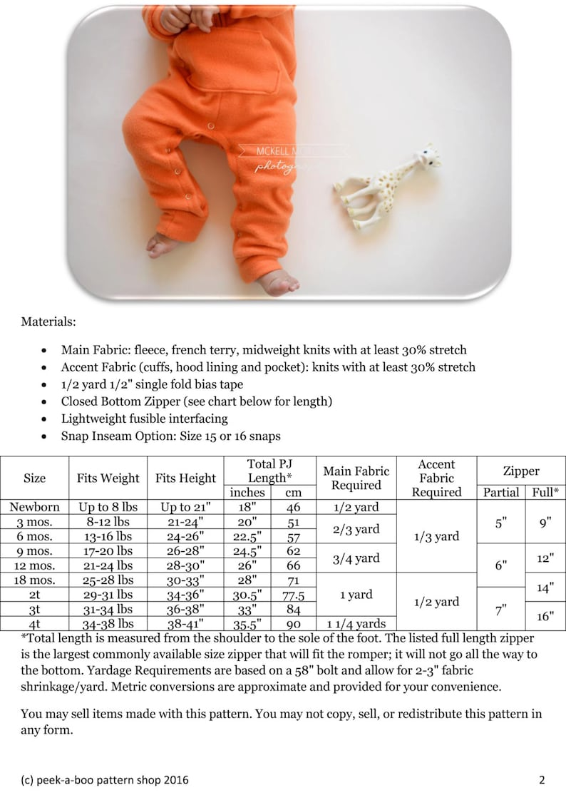 e6e6646d28ed9 Zipster Romper Sewing Pattern: Hooded Romper Pattern, Baby Romper Pattern
