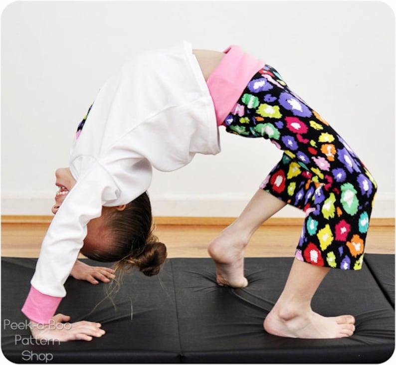 Yoga Girl: PDF Pattern & Tutorial For Yoga Pants Yoga