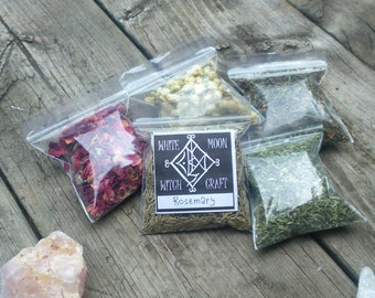Wiccan herbs - CHOOSE 5 - spells witchcraft kit pagan herb earth magick occult supplies altar tools spell magic
