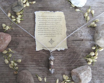 witchcraft amulet - protection - wiccan jewelry witchy necklace occult magick mystical jewelry wicca wiccan herbs spells magick metaphysics