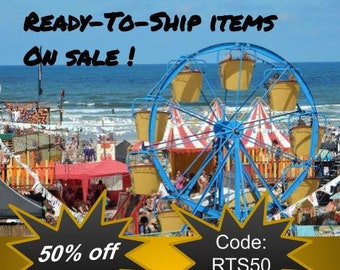 Ready to Ship Items.  50% off only ready to ship items