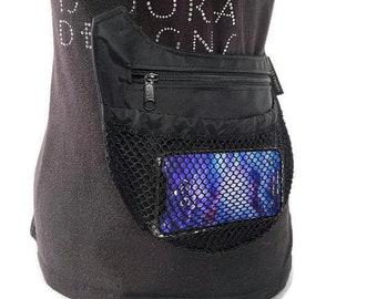 Shoulder bag, Slim-line Crossbody, Black Crossbody Bag, Black shoulder bag, Iphone crossbody purse, hiking bag, crossbody cell phone bag