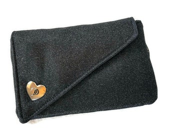 Cell phone clutch, cell phone purse, cell phone clutch with window, wedding clutch,