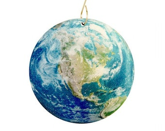 Mapped Earth Ornament #9942