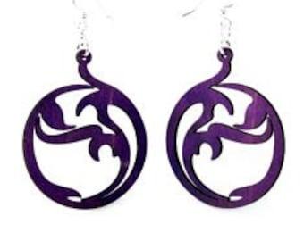 Circle Art - Laser Cut Wood Earrings