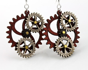 Kinetic Gear Earrings - Hugo #5005A