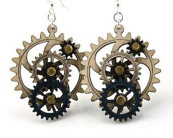 Kinetic Gear Earrings #5003A