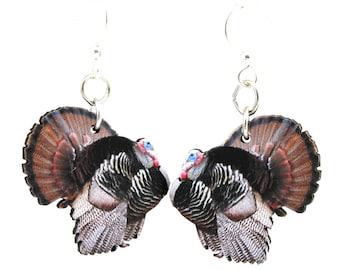Wild Turkey Earrings #1547