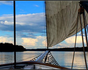Fine Art Photography, Clearwater sail, Matted and wrapped Color photography
