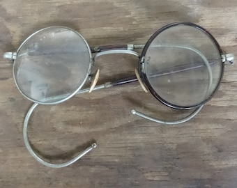 7c15b5ca2b63 Antique French reading glasses spectacles optical aids circa 1900-20 s    English Shop