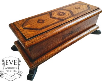 Vintage French Rustic Wooden Wood Storage Box Pot Carrier Holder Sorter Display Jewellery Jewelry Catch All c1950-60/'s  EVE of Europe