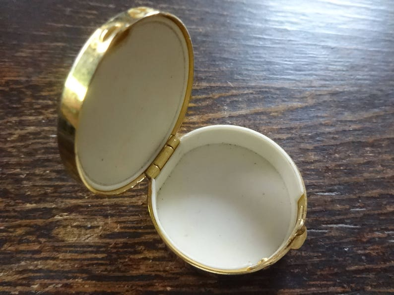 Vintage French Pill Box Ring Jewelry Jewellery Trinket Small Storage Pot Tin Container OTHERS ALWAYS AVAILABLE c1980/'s  English Shop