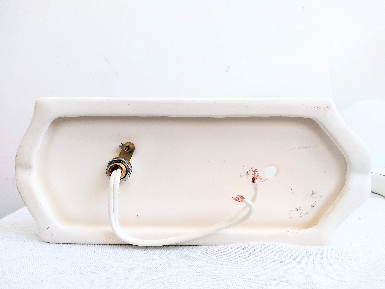 Vintage francese bianco bianco ottone oro colorato metal