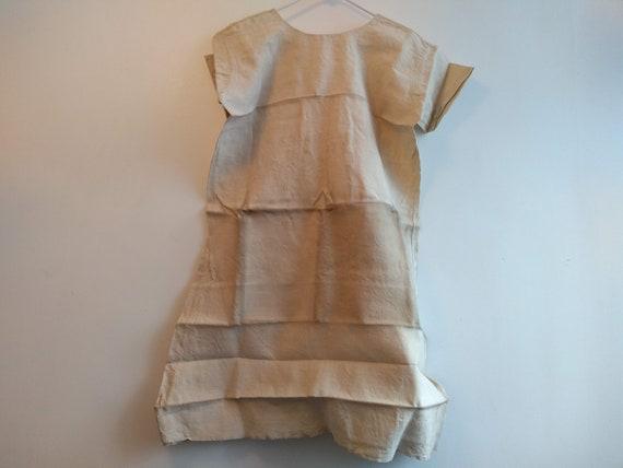 Antique French Linen Hemp Night Shirt Smock Biaud… - image 6