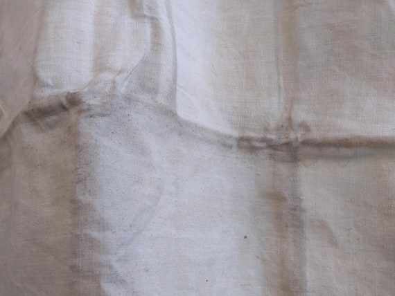 Antique French Partially Finished Linen Hemp Nigh… - image 8