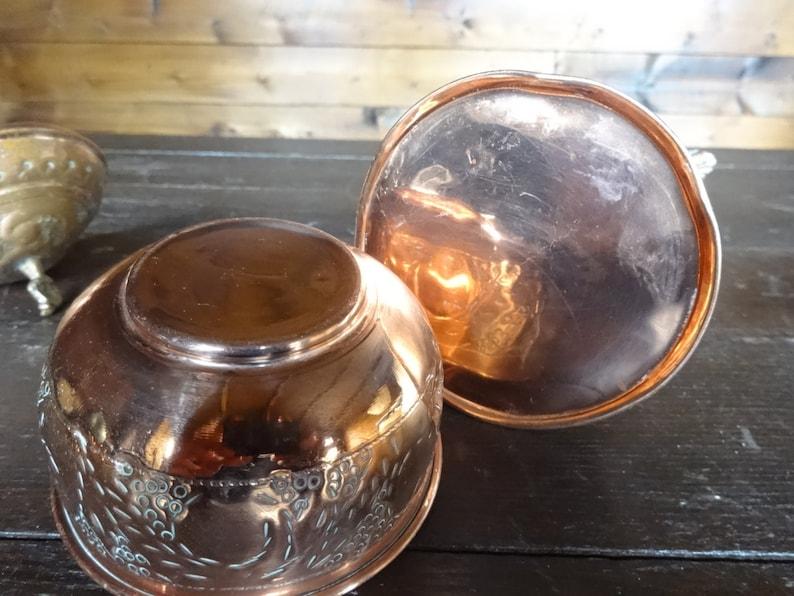 Vintage Oriental Arabian copper tea pot kettle and tea canister can circa 1920-40/'s  English Shop