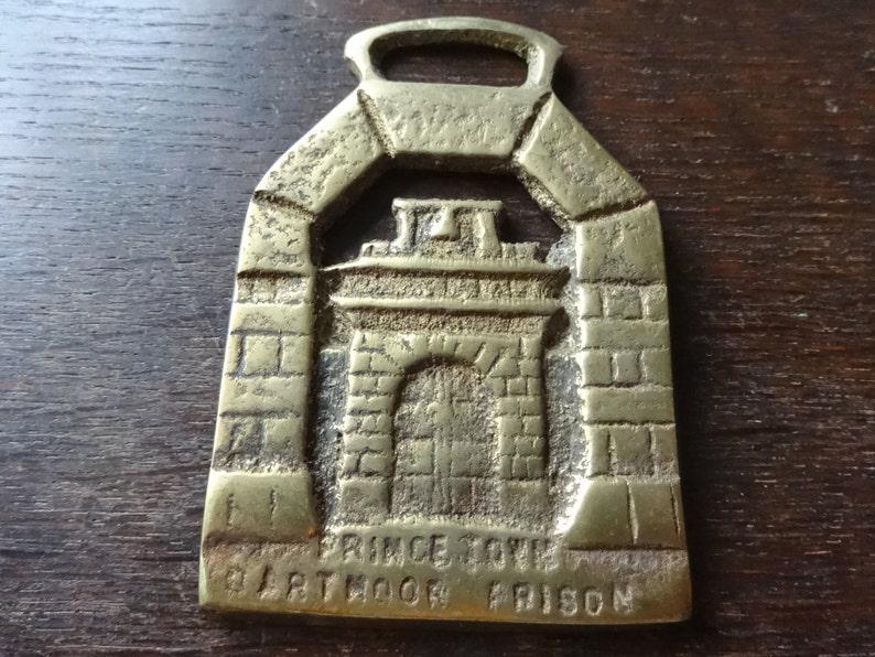 Vintage English Prince Town Dartmoor Prison Horse Brass tack decor lucky charm good luck souvenir medallion circa 1960-70/'s  English Shop