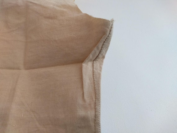 Antique French Partially Finished Linen Hemp Nigh… - image 5