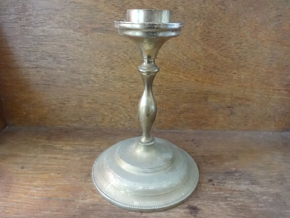 vintage porte bougie chandelier en laiton anglais stand circa etsy. Black Bedroom Furniture Sets. Home Design Ideas