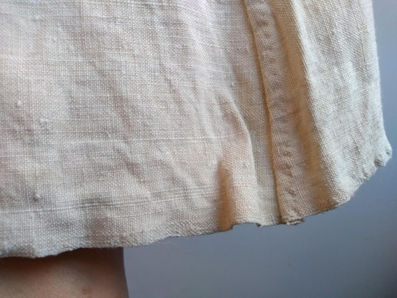 Antique French Linen Hemp Night Shirt Smock Biaud… - image 3
