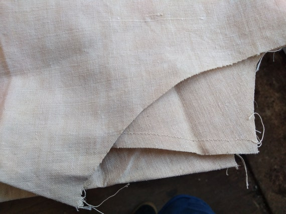 Antique French Partially Finished Linen Hemp Nigh… - image 10