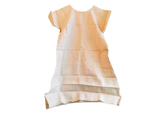 Antique French Linen Hemp Night Shirt Smock Biaude