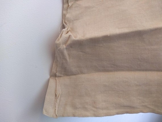 Antique French Partially Finished Linen Hemp Nigh… - image 3