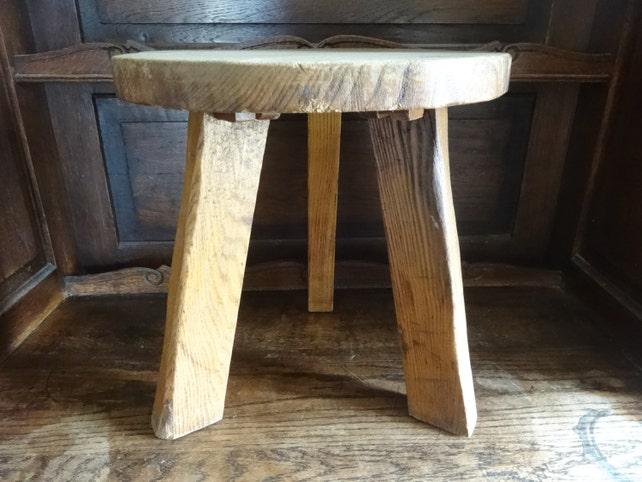 Vintage französischen hölzerne Melken Hocker kleiner Stuhl | Etsy
