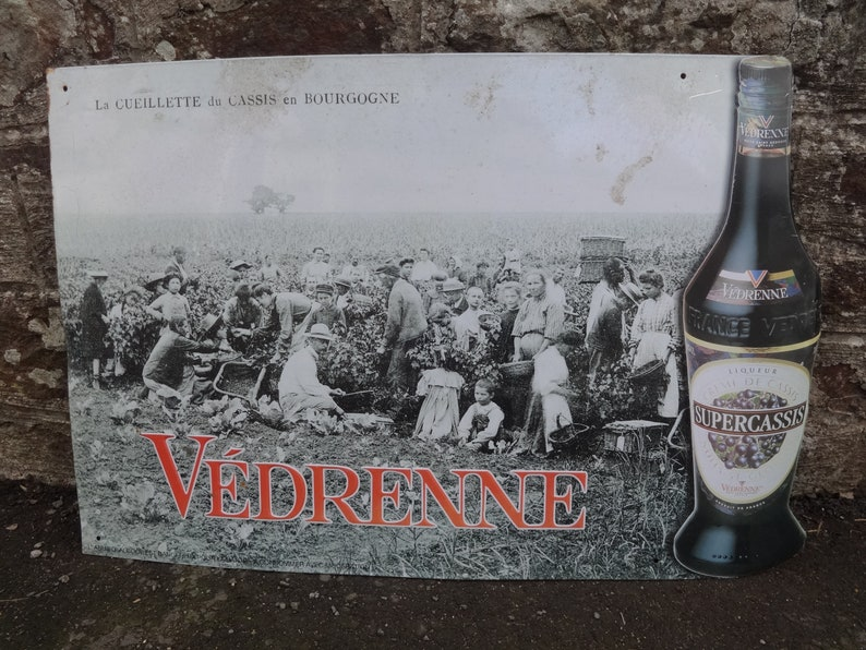 Vintage French Vedrenne Supercassis Shop Sign External Display Roadsign Metal Display circa 1990/'s  English Shop
