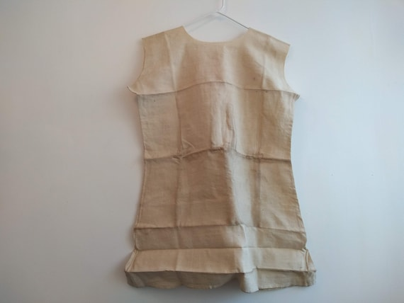 Antique French Partially Finished Linen Hemp Nigh… - image 7