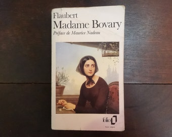 Vintage French Paperback Book Madame Bovary by Gustave Flaubert Fiction circa 1972 / English Shop